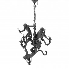 'MONKEY CHANDELIER' RESIN LAMP Cm.80x80 h.105 - BLACK