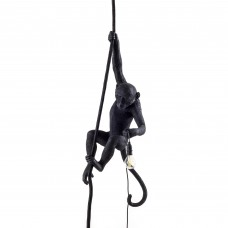 'MONKEY LAMP-OUTDOOR' RESIN LAMP Cm.37x25 h.76,5 - WITH ROPE - BLACK