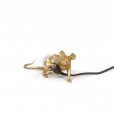 'MOUSE LAMP LOP-GOLD-UK' RESIN LAMP Cm.6,2x21 h.8,1 - LYING DOWN