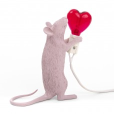 'MOUSE LAMP-STEP' RESIN LAMP Cm.6x13,3 h. 14,5- STANDING VALENTINE'S DAY