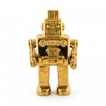 'LIMITED GOLD EDITION' PORCELAIN MY ROBOT Cm.17,4x 12,4x30