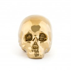 'LIMITED GOLD EDITION' PORCELAIN MY SKULL Cm. 25 x 14 h. 15