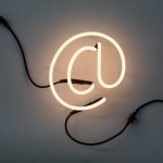 'NEON FONT' NEON LAMP SHAPED Cm.21 h. 22 - @