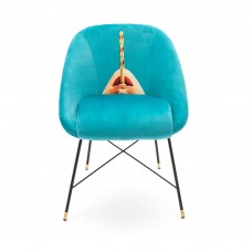 UPHOLSTERED CHAIR 'TOILETPAPER' Cm.60x50 h.72 - DRILL