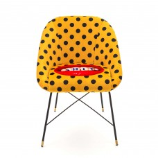 UPHOLSTERED CHAIR 'TOILETPAPER' Cm.60x50 h.72 - SHIT