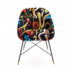 UPHOLSTERED CHAIR 'TOILETPAPER' Cm.60x50 h.72 - SNAKES
