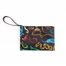 "HAND BAG IN PU  ""TOILETPAPER"" cm 28x20x3 - SNAKES"