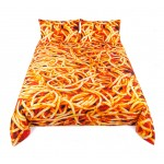 SET COVER COTTON PIECE  Cm.240x220+ 2 BED 'SPAGHETTI'