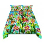 SET COVER COTTON PIECE  Cm.240x220+ 2 BED 'FLOWERS'
