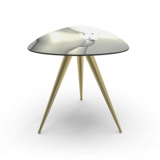 'TOILETPAPER' WOODEN TABLE WITH METAL LEGS Cm.57x57 h.48 - TWO OF SPADES