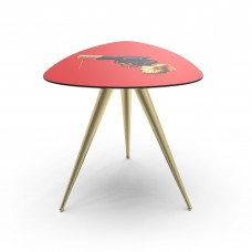 'TOILETPAPER' WOODEN TABLE WITH METAL LEGS Cm.57x57 h.48 - REVOLVER