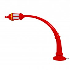 'STREET LAMP (FLOOR)' RESIN TABLE LAMP ø Cm.9,8 h.42 - RED OUTDOOR