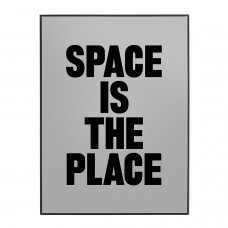 'SPACE IS THE PLACE' METAL AND GLASS MIRROR Cm.30x40