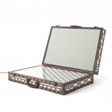 SUITCASE WITH MIRRORS AND LED LIGHTHING'LIGHT TRUNK' Cm.60,5x41h.15,5/48