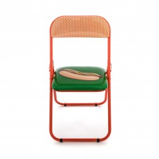 'STUDIO JOB-BLOW' METAL FOLDING CHAIR Cm.44 h. 47/80 - HOTDOG