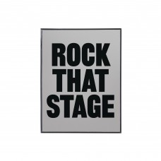 'ROCK THAT STAGE' METAL AND GLASS MIRROR Cm.22,5x29,5