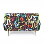 TWO SEATER SOFA 'TOILETPAPER' Cm.122x86 h.42/86 - SNAKES