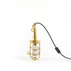 INDUSTRIAL LAMP EASY TO HANG IN BRASS 'FINGERS-US' ø Cm.11 h.30