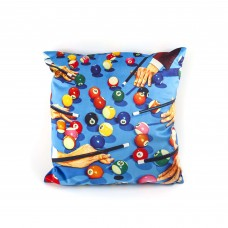 """POLYESTER CUSHION WITH PLUME PADDING """"TOILETPAPER"""" Cm.50x50 - SNOOKER"""