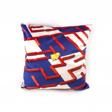 """POLYESTER CUSHION WITH PLUME PADDING """"TOILETPAPER"""" Cm.50x50 - LABYRINTH"""