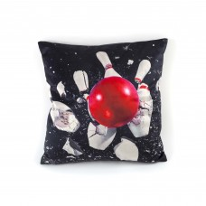 """POLYESTER CUSHION WITH PLUME PADDING """"TOILETPAPER"""" Cm.50x50 - BOWLING"""