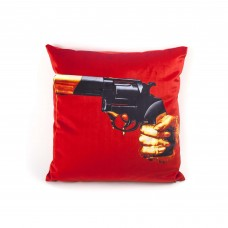 """POLYESTER CUSHION WITH PLUME PADDING """"TOILETPAPER"""" Cm.50x50 - REVOLVER"""