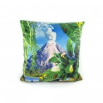 "POLYESTER CUSHION WITH PLUME PADDING ""TOILETPAPER"" Cm.50x50 - VOLCANO"