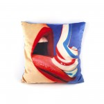 "POLYESTER CUSHION WITH PLUME PADDING ""TOILETPAPER"" Cm.50x50 - TOOTHPASTE"