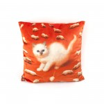 POLYESTER CUSHION 'TOILETPAPER' Cm.50x50 - KITTEN