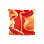 POLYESTER CUSHION 'TOILETPAPER' Cm.50x50 - HONEY