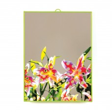 'TOILETPAPER' MIRROR Cm.30x40 - FLOWERS WITH HOLES