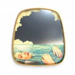 'TOILETPAPER' MIRROR WITH WOODEM FRAME Cm.54 h.59 - SEA GIRL