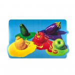 'TOILETPAPER' PLACEMAT IN PP+CORK Cm.48,6x30 - VEGETABLES