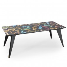 'TOILETPAPER' WOODEN TABLE Cm.205x90 h.74,5 - SNAKES