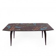'TOILETPAPER' WOODEN TABLE Cm.90x190 h.77 - SNAKES