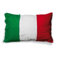 'FLAGS-ITALY' COTTON LINING CUSHION Cm.80x50