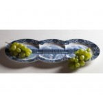 'MULTIDISH-TRIPLE' PLATE IN PORCELAIN Cm. 51,5x23