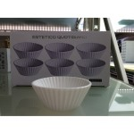 SET OF 6 PORCELAIN CUPCAKE ø Cm.7,8  h.3