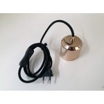LAMPHOLDER IN PORCELAIN E27 WITH SWITCH AND PLUG FOR LAMPS 'CRYSTAL-LED'