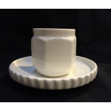 PORCELAIN COFFEE CUPS WITH SAUCER 'MACHINE COLLECTION'-Design:1