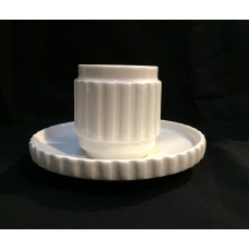 PORCELAIN COFFEE CUPS WITH SAUCER 'MACHINE COLLECTION'-Desing:2