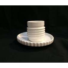PORCELAIN COFFEE CUPS WITH SAUCER' MACHINE COLLECTION'-Design:3