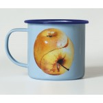 'TOILETPAPER' MUG METAL ENAMELED ø Cm.10 h.9 - APPLE