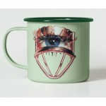 'TOILETPAPER' MUG METAL ENAMELED ø Cm.10 h.9 - EYE