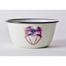 'TOILETPAPER' BOWL METAL ENAMELED ø Cm.17 h.8 - EYE