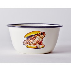 'TOILETPAPER' BOWL METAL ENAMELED ø Cm.17 h.8 - TOAD