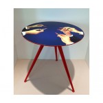 'TOILETPAPER' WOODEN TABLE ø Cm.70 h.64,5 - LIPSTICK