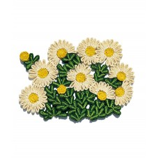 'FLORIGRAPHIE-MARGHERITA' STRAW TABLE MAT Cm. 48x34